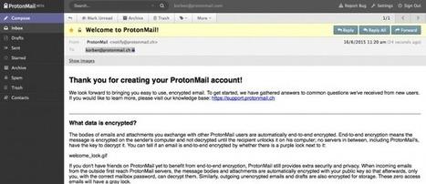 C'est le moment de vous inscrire sur ProtonMail | Time to Learn | Scoop.it