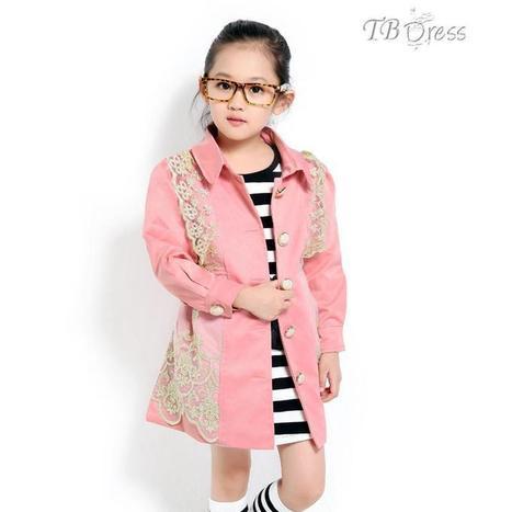 $ 30.89 Cool Girl's Long Sleeves Princess Long Coat | kid dress | Scoop.it