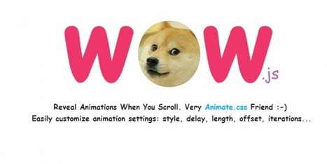 wow.js: animate anything as you scroll down the web page | Web Resource | Scoop.it