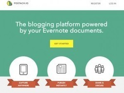 Création rapide de Blog avec Postach.io (et Evernote) - Educavox | Evernote | Scoop.it
