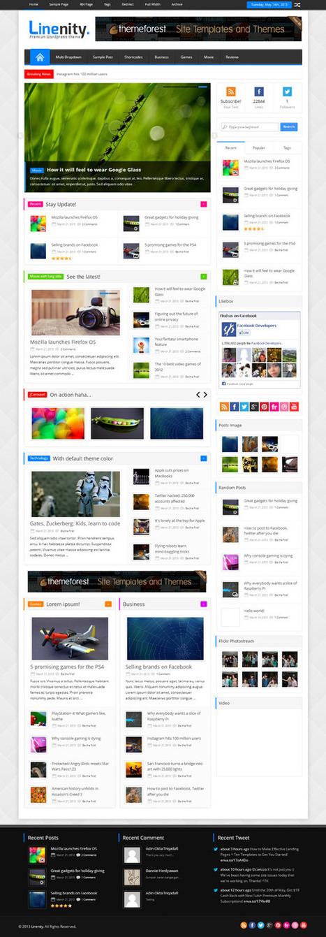 Linenity, WordPress Responsive Clean Magazine Theme | WP Download | dsfd | Scoop.it