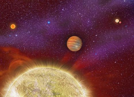 Un planeta con cuatro soles | Estudiando el universo | Scoop.it
