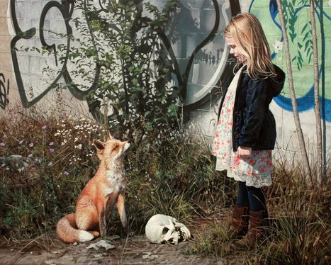 Urban Fairytales: Hyperrealistic Paintings of Kids Exploring the City | Modern Ruins, Decay and Urban Exploration | Scoop.it