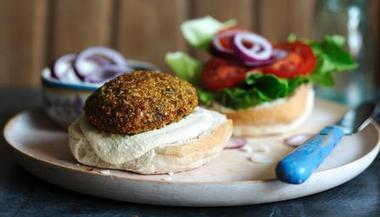 BBC - Food - Recipes : Falafel burger with hummus | VegHeads | Scoop.it