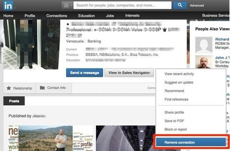 Come eliminare un contatto LinkedIn - SelfMarketing.it | Social media culture | Scoop.it
