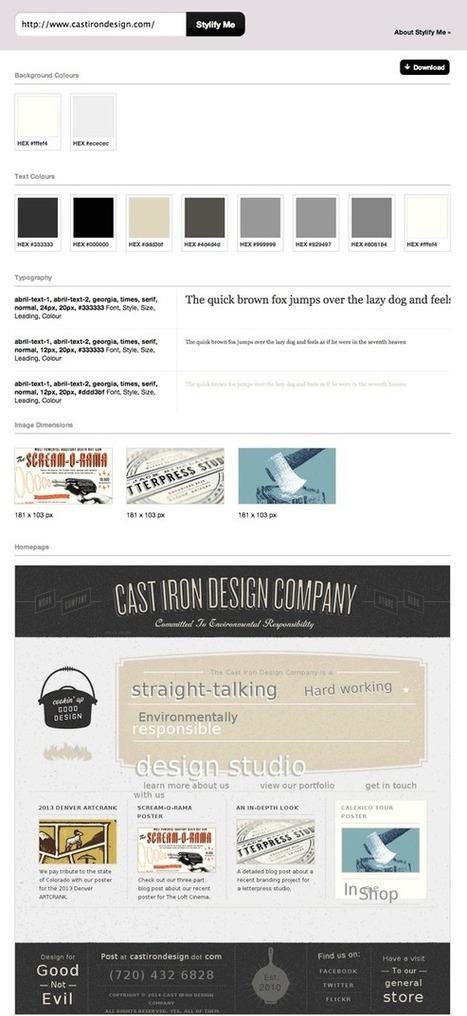 Stylify – para saber cuales fuentes tipográficas y esquema de color usan los sitios web | Sobre diseño en la web | Scoop.it