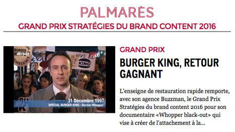 Grand Prix Stratégies du Brand Content 2016   TV sur le web   Scoop.it