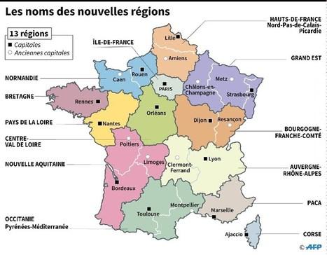 Les grandes régions françaises ont toutes un nouveau nom | Vers l'Europe du futur | Scoop.it