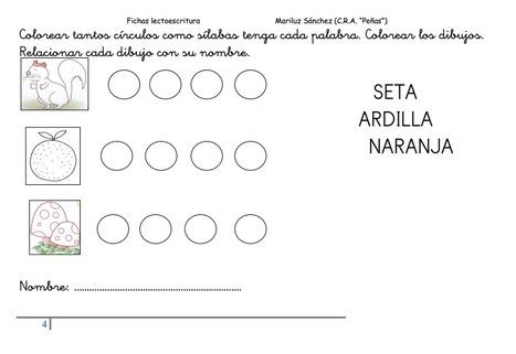 Fichas lectoescritura 5 años | lectoescritura en primaria | Scoop.it