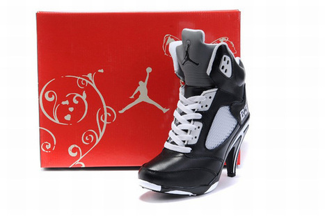 nike air jordan 5 heels white and black for women | fashion collection | Scoop.it