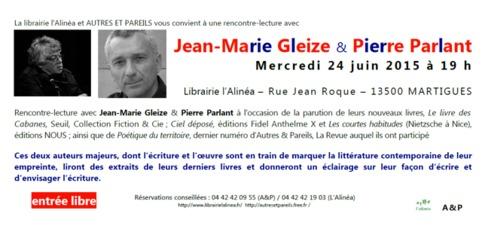 [agenda] 24 juin, Martigues, Jean-Marie Gleize et Pierre Parlant | Poezibao | Scoop.it