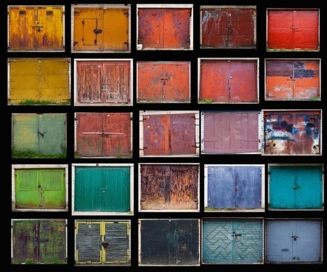 "Hundreds of #Vibrant #Doors Found Within #Lithuania's ""Garage Towns"" Photographed by Agne Gintalaite #art #photography #colour 