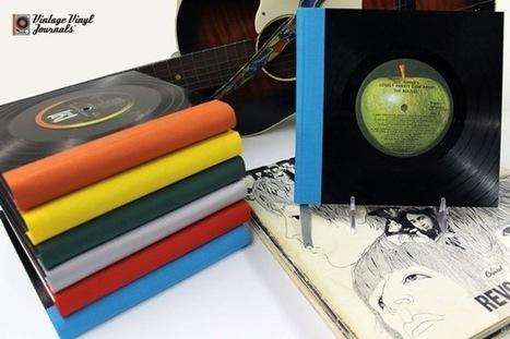 Vintage Vinyl Journals   Recyclart   Journaling Helps!   Scoop.it