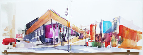 Urban Sketchers Paris: Carrefour de la Vache Noire, Arcueil | Paris lifestyles | Scoop.it