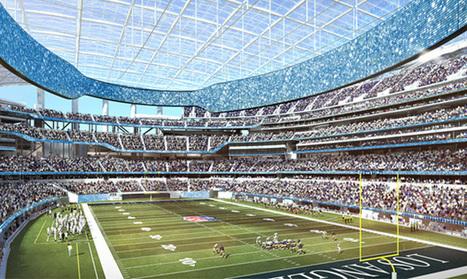 Le futur stade des Los Angeles Rams va être un des plus impressionnants au monde // L'Equipe | SPORT ACTUALITES |  L'actu sport, techno, éco & politique. | Scoop.it