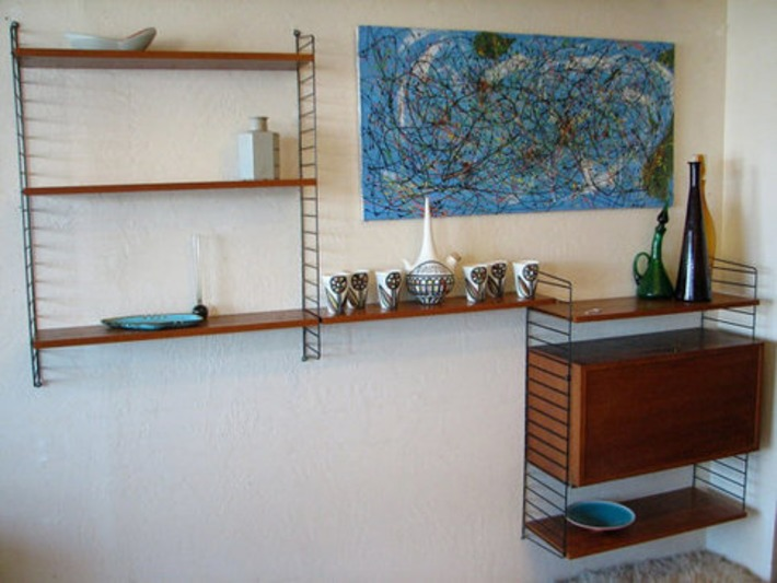 50's Swedish String Wall Unit  mid century by dejavulongbeach | Antiques & Vintage Collectibles | Scoop.it