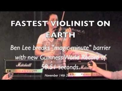 """""""Flight of the Bumblebee"""" : FASTEST VIOLIN : new Guinness World Re 