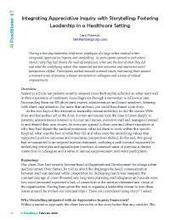 Integrating Appreciative Inquiry with Storytelling | Art of Hosting | Scoop.it