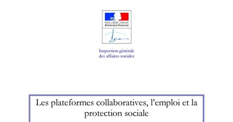 Les plateformes collaboratives, l'emploi et la protection sociale | Dialogue Social | Scoop.it