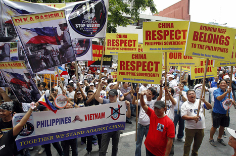 Filipinos protest China territorial claims | Human Geography | Scoop.it