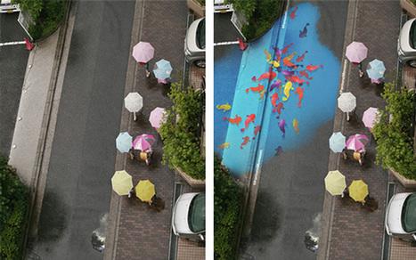 Des designers créent de superbes oeuvres qui se dévoilent sous la pluie - ça s'passe à Séoul ! | ILLUSTRATION | Scoop.it