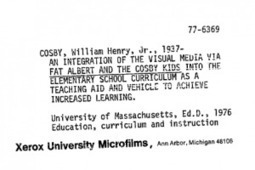 Bill Cosby's Dissertation | DissertationRx | Thinking, Learning, and Laughing | Scoop.it