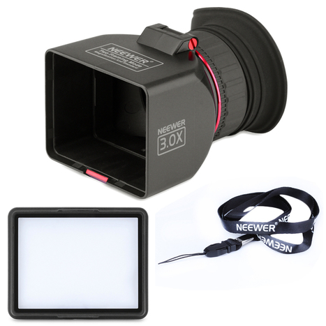 """Neewer 3"""" LCD Viewfinder Loupe 3x Magnification f Canon 650D 7D 5D Mark II Nikon 