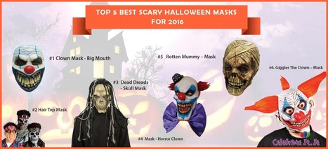 Top 5 Best Scary Halloween Masks for 2016  | Costume Shop and Party Supplies Ireland  online | Scoop.it