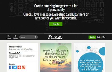PixTeller. Créer des affiches et des posters en ligne | Enseignement-apprentissage | Scoop.it