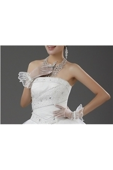 Bridal Wedding Gloves in Ivory & White, 2013 New Style Lace Wedding Glove on Sale - DressV.Com | fashiondresses | Scoop.it