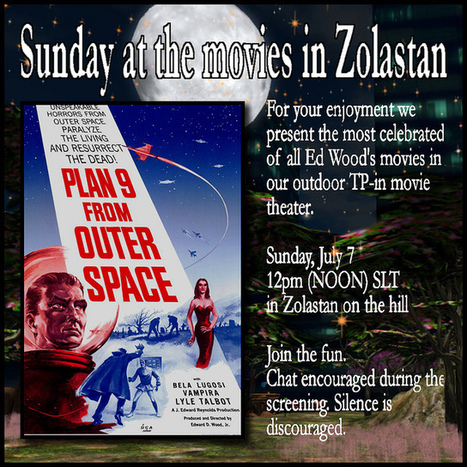 Sunday at the movies in Zolastan presents Plan 9 from Outer Space in #SecondLife | Everything About 3D Immersive Virtual Worlds | Scoop.it