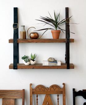 DIY: Estantería de madera y cuero | Todo sobre muebles,mobiliario y el mueble. | Scoop.it