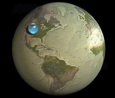 NASA: How much water is on Planet Earth? Visualization: All water bunched up to a single ball [photo] | Singularity Scoops | Scoop.it