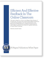 Effective Feedback Strategies for the Online Classroom | @ONE for Training | Scoop.it