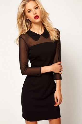Semi Sheer Top Long Sleeve Dress - OASAP.com | Online Fashion | Scoop.it
