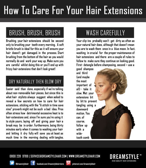 How To Care For Your Hair Extensions | Dreamstyle | SEO Manchester | Scoop.it