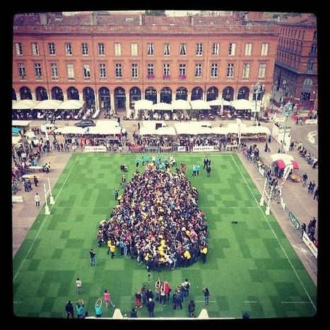 Toulouse champion du monde ! Record de la plus grande mêlée du monde battu au Festoval ! | Yannick | Scoop.it