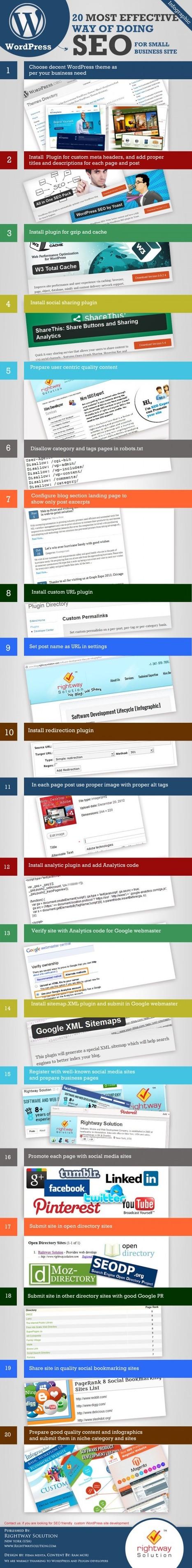 Infographie : 20 façons d'optimiser sous Wordpress son blog ou son site ! | Gérer sa communauté sur la toile | Scoop.it