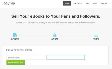 Payhip: Slimme en goedkoper manier om via sociale media met Paypal eboeken te verkopen | BlokBoek e-zine | Scoop.it