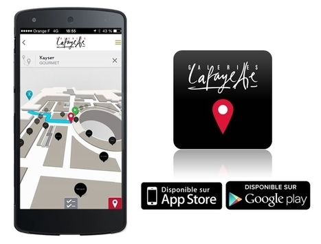 Les Galeries Lafayette lancent leur appli de géolocalisation instore | Marketing News | Scoop.it