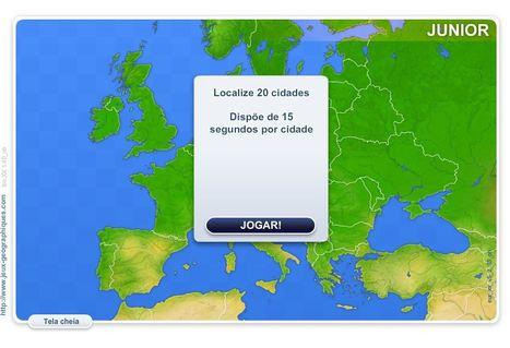 Jogos de Geografia- Cidades de Europa Junior - (localizar  20 cidades) | Games and education | Scoop.it