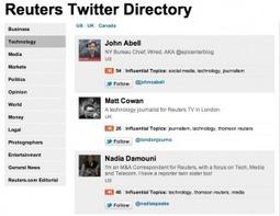Reuters joue la carte Social Media : Portail dédié et annuaire Twitter de journalistes | Je suis Community Manager | Scoop.it