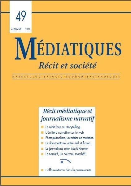 Récit médiatique et journalisme narratif | DocPresseESJ | Scoop.it