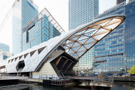 latticed roof complete at foster + partners' crossrail station - designboom | architecture & design magazine | Smart devices and technology solutions | Scoop.it