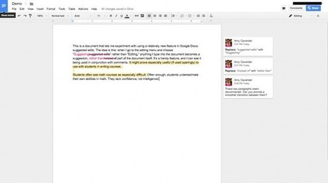 Suggested Edits in Google Docs – ProfHacker - Blogs - The Chronicle of Higher Education | Digital Literacy | Scoop.it