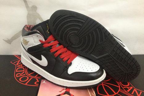 Mens AJ Nike Jordan 1 Phat Retro Sport Shoes Black White Mid Top | popular list | Scoop.it