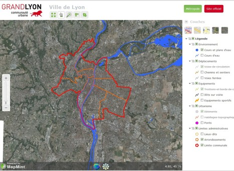 Le Grand Lyon ouvre ses données cartographiques | Social Network for Logistics & Transport | Scoop.it