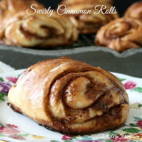 Swirly Cinnamon Rolls from Recipes, Food and Cooking #swirlycinnamonrolls #cinnamonrollrecipes | Recipes. Food and Cooking | Scoop.it