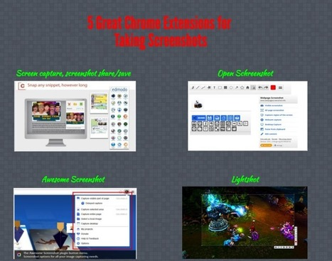 5 Great Chrome Extensions for Taking Screenshots ~ Educational Technology and Mobile Learning   Educational Technology and Mobile Lerarning   Scoop.it