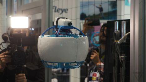 This soccer ball-shaped drone can't chop your fingers off | Une nouvelle civilisation de Robots | Scoop.it